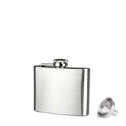 Culater®Stainless Steel 6 Sizes Pocket Hip Flask Alcohol Whiskey Liquor Screw Cap + Funnel