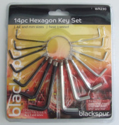 New Blackspur 14 piece Hexagon Allen Key Set Metric and Imperial Sizes