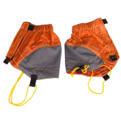 MagiDeal Waterproof Snow Sand Short Nylon Gaiters for Outdoor Hiking Mountaineering