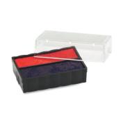U. S. Stamp & Sign Trodat T4850 Dater Replacement Pad, 0.5cm Width x 2.5cm Depth, Red/Blue