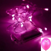 4Meters Pink 40 LED Powered by Battery String Lamp Light Fairy Christmas Party