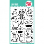 Avery Elle Geek Love 10cm x 15cm Clear Stamp Set ST-15-24