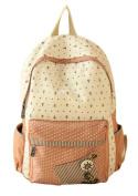 Women's Girl's Canvas Knapsack Students School Bag for 36cm - 38cm Laptop A4 Magazine IPAD