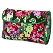 JODA Ladies Pink Purple and Green Flower Hanging Travel Cosmetic Toiletry Wash Bag with Hook 290-272