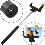 Wireless Portable Bluetooth Control Chargeable Extendable Camera Holder Handheld Monopod Selfie Stick with Ajustable Phone Adapter Phone Holder Frame Multifunctional Autodyne Monopod For Camera and All Mobile Phones