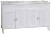 Bellaterra Home 600168-60W 150cm Double Sink Vanity, Wood, White