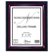 Nu-Dell 20cm x 25cm Executive Document Certificate Frame, Black/Mahogany