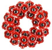 Angélys Poppy Wreath Brooch