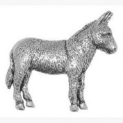 Pewter Donkey Badge or Brooch Gift for Scarf, Tie, Hat, Coat or Bag