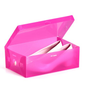 HuntGold 1X Home Thicken Plastic Shoes Box Stackable Container Shoe Organiser Storage Case Holder