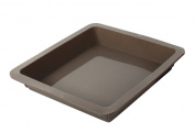 Crealys 513015 Square Baking Mould 24 x 24 x 4 cm Silicone Candy Grey