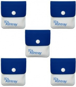 My Ashtray Five Blue and White Pocket Ashtrays