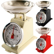 NEW 3KG TRADITIONAL WEIGHING KITCHEN SCALE BOWL RETRO SCALES MECHANICAL VINTAGE