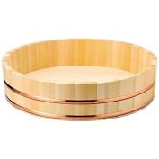 "30cm/12"" Japanese Hangiri / Sushi Oke / Handai Set Complete with Sushi Rolling Mat"
