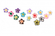 Flower Colourful Polymer Clay Beads Assorted Colours 711-8