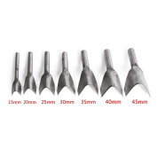 Co-link DIY V-Shaped Leather Cuttting Craftstool Punch Cutter Tools for Belt/Wallet with 7 Sizes