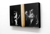 20cm X 30cm Block Mounted Print Banksy Welding Rats Graffiti