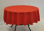 Red Round Polyester Fabric Tablecloth 120cm Diameter