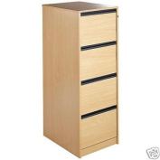 Maestro 4 Drawer Wooden Wood Filing Cabinet Foolscap - Beech