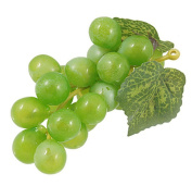 KingWinX Plastic Artificial Grapes for Desk Decoration, Pack of 3 Pcs Green