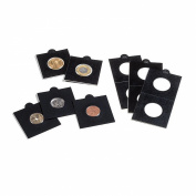 MATRIX coin holders, black, inside Ø 30 mm, self-adhesive, pack of 25
