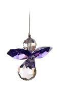 Crystal Guardian Angel Small Amethyst Purple Suncatcher.