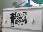 Harry Potter Dobbys Sock Drawer Sticker Decal 20 cm x 1 black
