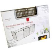 De Vielle STP006663 Extendable Fireplace Child Safety Nursery Fire Guard Black