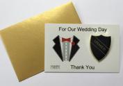 Usher Badge - Old School Style Wedding Day Shield Badge