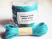 JEMPAK UK® 10M x 2mm thick TURQOUISE BLUE natural Hemp Jute Twine rope for gift packaging, Scrapbooking & Wedding Decorations