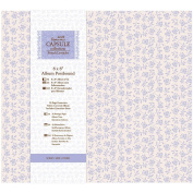 Papermania 20cm x 20cm Capsule Postbound Album with 10-Page Protectors, French Lavender