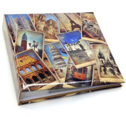 Arpan 10 x 15 cm Vintage collage - UK-European Travel Memo Photo Album for 200 Photos 4 x 6''
