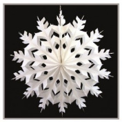 Paper Snowflake Christmas Decoration - 36cm Wide - White