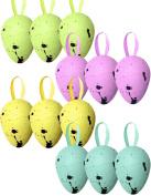12 Easter Speckled Hanging Eggs Easter Bonnet Hat Decoration Party Eggs Arts Crafts Kids