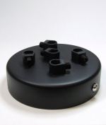 5 POINT MULTI DROP OUTLET CEILING ROSE | Midnight Black