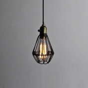 Buyee® Vintage Opening and Closing Hanging Light Wire Cage Lamp Guard Pendant Light Fixture