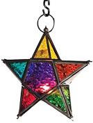 Moroccan style star hanging glass Tea light lantern,