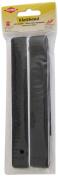 Kleiber 25 mm Hook and Loop Self Adhesive Strip, Black