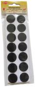 Kleiber 25 mm Wide Hook and Loop Coins Self Adhesive, Black
