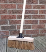 25cm Soft Sweeping Yard Brush, Natural Broom Brush with Handle