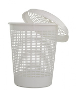 Laundry Basket and lid (White)