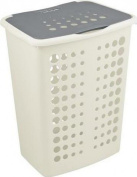 Curver VICTOR Laundry Basket 40lt WHITE/SILVER