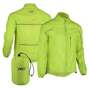 FDX Mens Waterproof Cycling Jacket Breathable Lightweight High Visibility Jacket