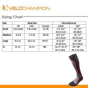 VeloChampion Compression Sports Socks - Black - For Running, Cycling, Triathlon