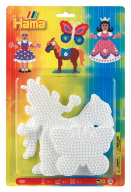 Hama Pegboard Blister Princess/Horse/Butterfly