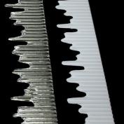Icicle Edge Corrugated Border Roll Silver