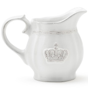 Epic Products 91-560 Crown Ceramic Creamer, White