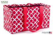 "MDM Large Utility Tote Bag, Organiser, Laundry Bag ""Red & White"""