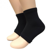 AceBone Beauty Spa Heel Moisturising Gel Pedicure Socks One Size Black