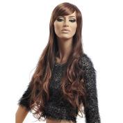 Female Glamorours Long Wave Wig Hair 100% Kanekalon Sexy Blond Long Women Wigs D3251